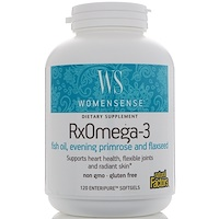 WomenSense, RxOmega-3, 120мягких таблеток Enteripure - фото