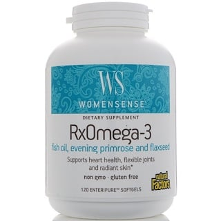 Natural Factors, WomenSense, RxOmega-3, 120 Enteripure Softgels