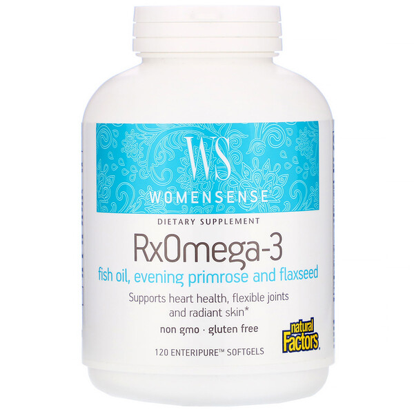 Natural Factors, WomenSense, ,RxOmega-3,120 粒軟膠囊
