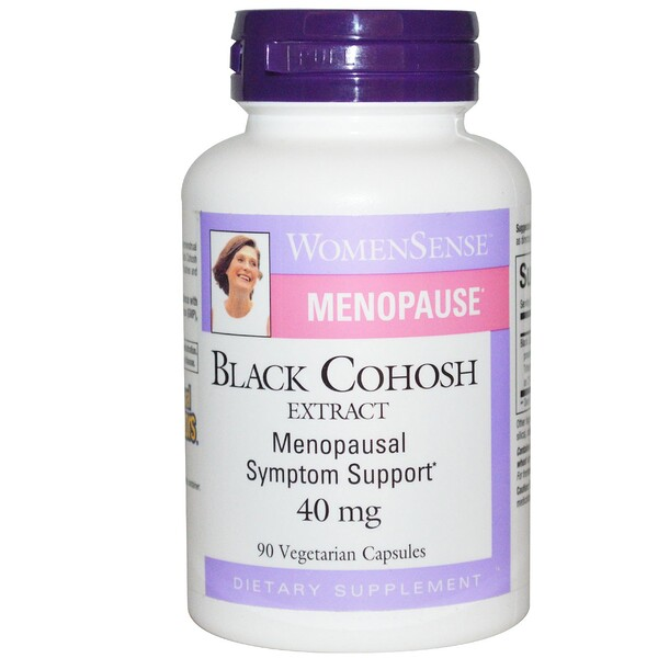 Natural Factors, WomenSense, menopausia, extracto de cohosh negro, 40 mg, 90 cápsulas vegetarianas