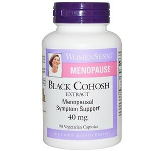 Натурал Факторс, WomenSense, Menopause, Black Cohosh Extract, 40 mg, 90 Vegetarian Capsules отзывы