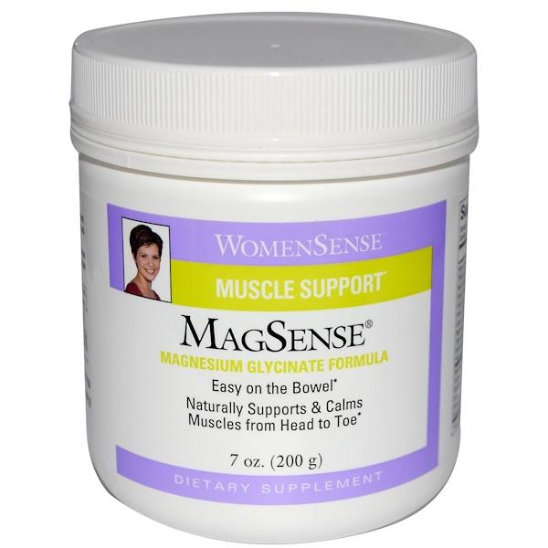 Natural Factors, WomenSense, MagSense, Magnesium Glycinate Formula, 7 oz (200 g)