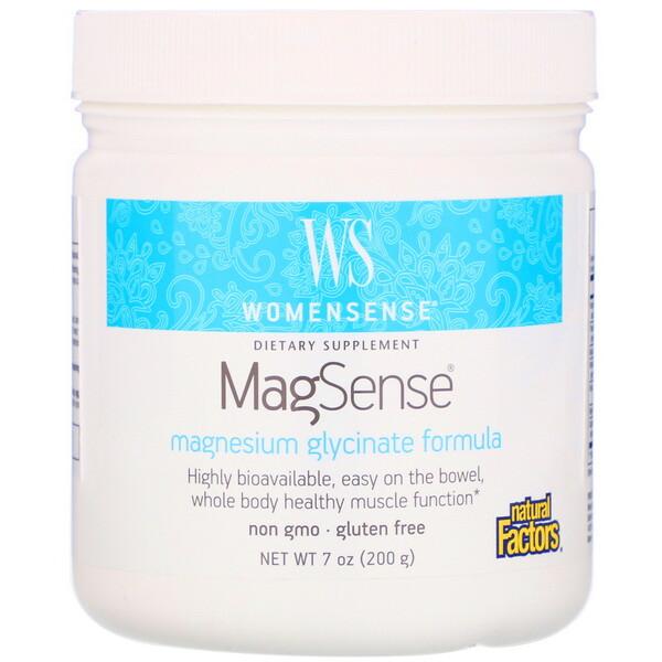 WomenSense, MagSense, Magnesium Glycinate Formula, 7 oz (200 g)