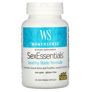 Natural Factors, WomenSense, SexEssentials, Healthy Libido Formula, 90 Vegetarian Capsules