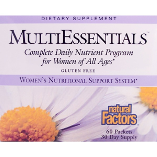 Natural Factors, MultiEssentials, Women's Nutritional Support System, 60 Packets (Discontinued Item)