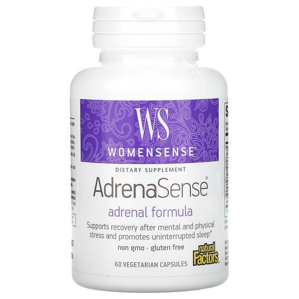 Womensense, AdrenaSense, Adrenal Formula, 60 Vegetarian Capsules