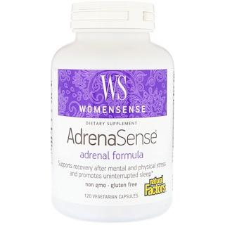 Natural Factors, WomenSense, AdrenaSense, تركيبة الغدة الدرقية، 120 كبسولة نباتية