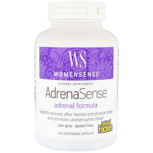 Natural Factors, WomenSense, AdrenaSense, Adrenal Formula, 120 Vegetarian Capsules