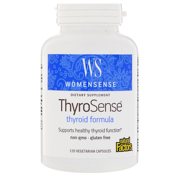 Natural Factors, WomenSense, ThyroSense, Thyroid Formula, 120 Vegetarian Capsules