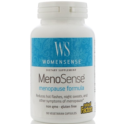 WomenSense, MenoSense, формула для приема в период менопаузы, 90 растительных капсул  - купить со скидкой
