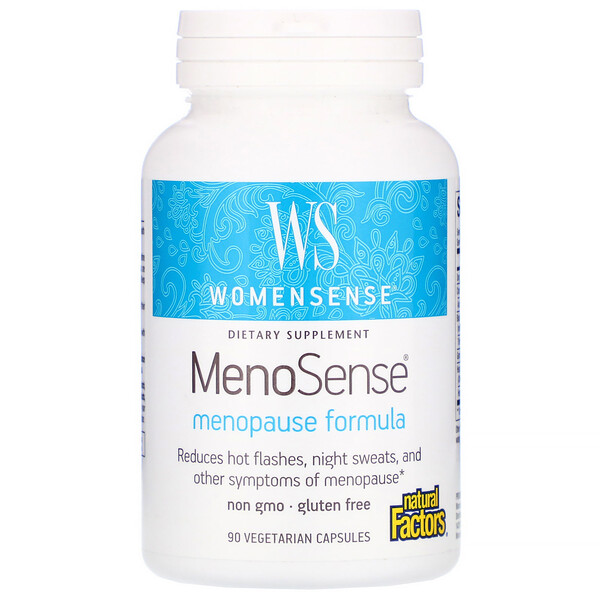 Natural Factors, WomenSense, MenoSense, Menopause Formula, 90 Vegetarian Capsules