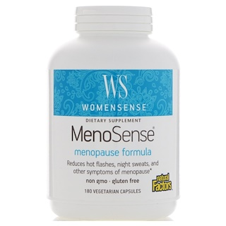 Natural Factors, WomenSense, MenoSense, Menopause Formula, 180 Vegetarian Capsules