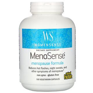 Natural Factors, WomenSense, MenoSense, Menopause Formula, 180 Vegetarian Capsules