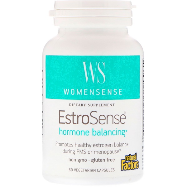 Natural Factors, WomenSense,EstroSense,女性荷爾蒙平衡,60 粒素食膠囊
