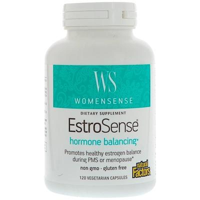 Купить WomenSense, EstroSense, Средство для поддержания гормонального баланса, 120 вегетарианских капсул