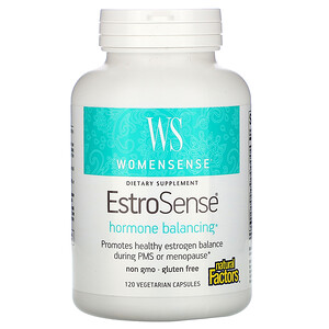 Натурал Факторс, WomenSense, EstroSense, Hormone Balancing, 120 Vegetarian Capsules отзывы покупателей