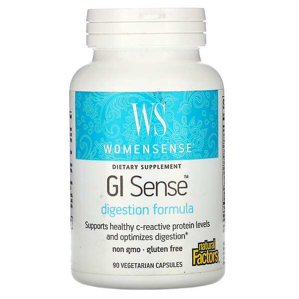 Natural Factors, WomenSense, GI Sense, Digestion Formula, 90 Vegetarian Capsules (Discontinued Item)
