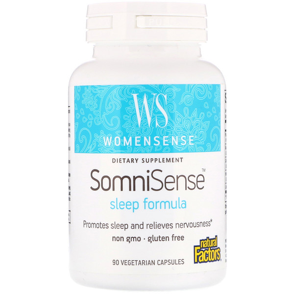 Natural Factors, WomenSense, SomniSense, Sleep Formula, 90 Vegetarian Capsules