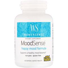 Natural Factors, WomenSense, MoodSense, Happy Mood Formula, 120 Enteric Coated Tablets