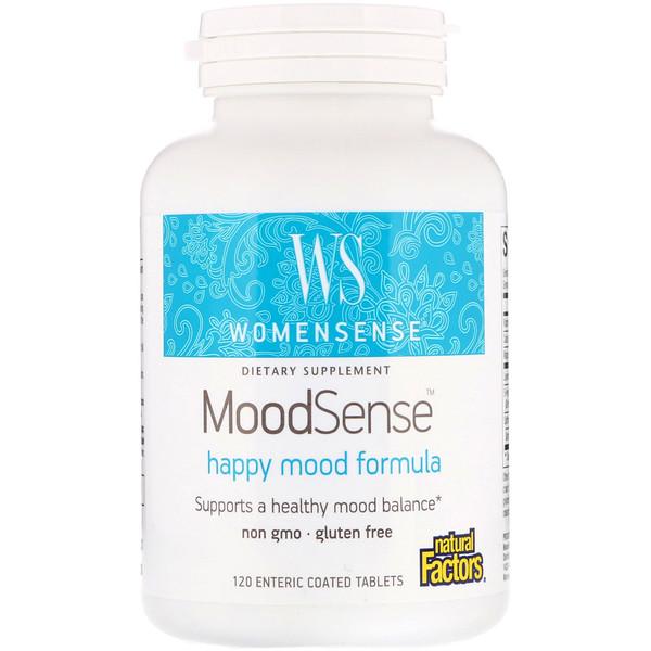 Natural Factors, WomenSense, MoodSense, Happy Mood Formula, 120 Enteric Coated Tablets (Discontinued Item)