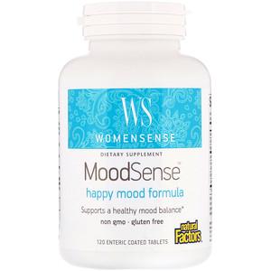 Натурал Факторс, WomenSense, MoodSense, Happy Mood Formula, 120 Enteric Coated Tablets отзывы