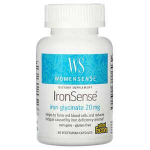 Натурал Факторс, WomenSense, IronSense, Iron Glycinate, 20 mg, 60 Vegetarian Capsules отзывы