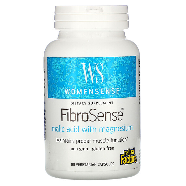 Natural Factors, WomenSense, FibroSense, Malic Acid with Magnesium, 90 Vegetarian Capsules