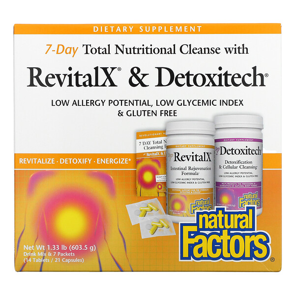 7-Day Total Nutritional Cleansing with RevitalX & Detoxitech, 1.33 lb (603.5 g)