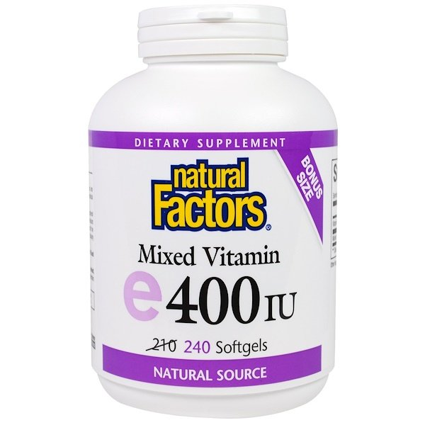 Natural Factors, Mixed E, 400 IU, 240 Softgels