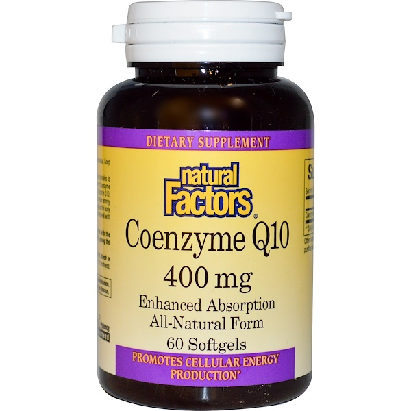 Natural Factors, Coenzyme Q10, 400 mg, 60 Softgels