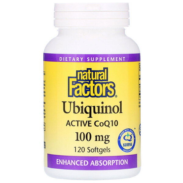 Natural Factors, Ubiquinol, QH Active CoQ10, 100 mg, 120 Softgels