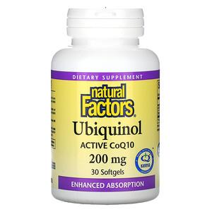 Natural Factors, Ubiquinol, 200 mg, 30 Softgels
