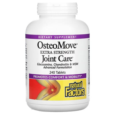 Natural Factors OsteoMove, Joint Care, 240 Tablets
