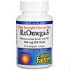 Natural Factors, Ultra Strength One-per-Day RxOmega-3, 900 mg, 60 Enteripure Softgels