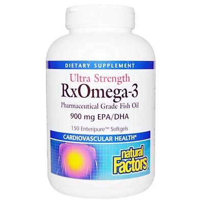 Ultra Strength RxOmega-3, 150 желатиновых капсул Enteripure  - купить со скидкой