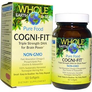 Natural Factors, Whole Earth & Sea, Cogni-Fit, 60 Softgels