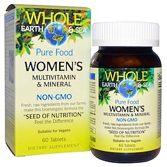 Natural Factors, Whole Earth & Sea, Women's Multivitamin & Mineral, 60 Tablets