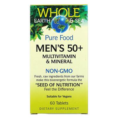 Купить Natural Factors Whole Earth & Sea, Men's 50+ Multivitamin & Mineral, 60 Tablets