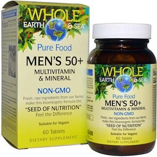 Natural Factors, ٦٠ قرص من فيتامينات ومعادن متعدده للرجال+٥٠  من هول ايرث اند سي