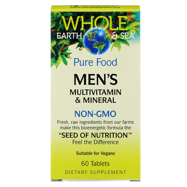 Whole Earth & Sea, Men's Multivitamin & Mineral, 60 Tablets