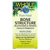 Natural Factors, Whole Earth & Sea, Bone Structure Multivitamin & Mineral, Calcium & Magnesium, 60 Tablets