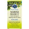 Natural Factors, Whole Earth & Sea, Marine Algae-3, 450 mg EPA & DHA, 30 Veggie Caps