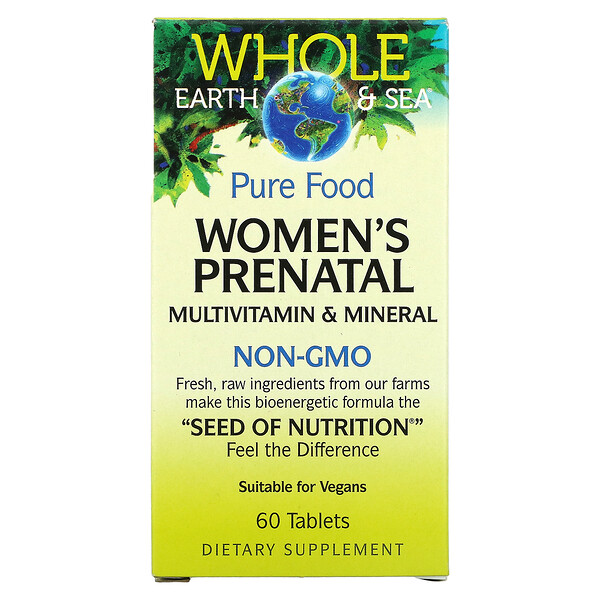 Whole Earth & Sea, Women's Prenatal Multivitamin & Mineral, 60 Tablets