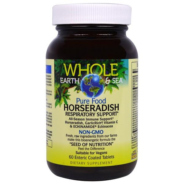Natural Factors, Whole Earth & Sea, Pure Food Horseradish, 60 Enteric Coated Tablets (Discontinued Item)