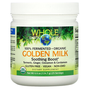 Natural Factors, Whole Earth & Sea, Golden Milk Soothing Boost, 4.4 oz (124.7 g)