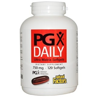 Natural Factors, PGX Daily, Cápsulas Gelatinosas Ultra Matrix, 750 mg, 120 Cápsulas Gelatinosas