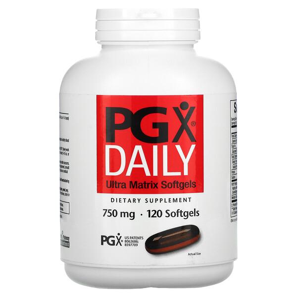 PGX Daily, Ultra Matrix Softgels, 750 mg, 120 Softgels