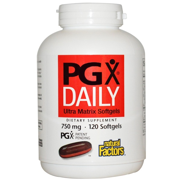 Natural Factors, PGX Daily, Ultra Matrix Softgels, 750 mg, 120 cápsulas