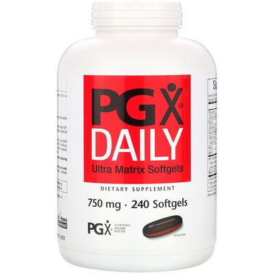 PGX Daily, мягкие желатиновые капсулы с матрицей сверхвысокого качества, 750 мг, 240 мягких желатиновых капсул капсулы с растворимыми волокнами 625 мг 180 капсул