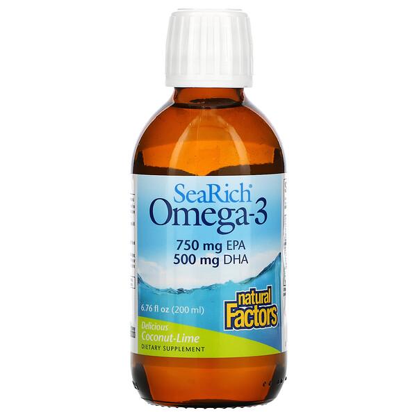 SeaRich Omega-3, Delicious Coconut-Lime, 6.76 fl oz (200 ml)
